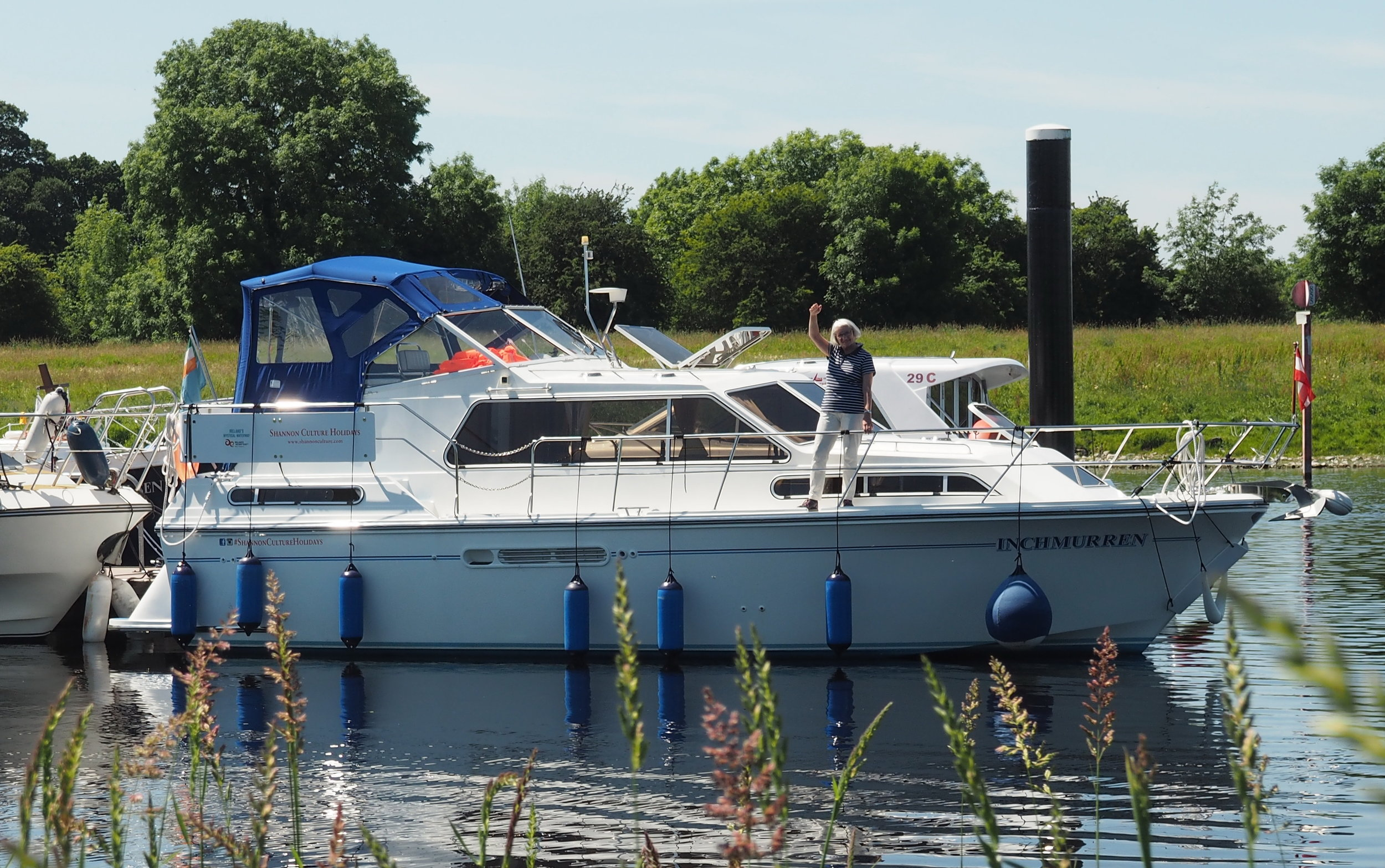 Hire boats on the River Shannon Ireland.