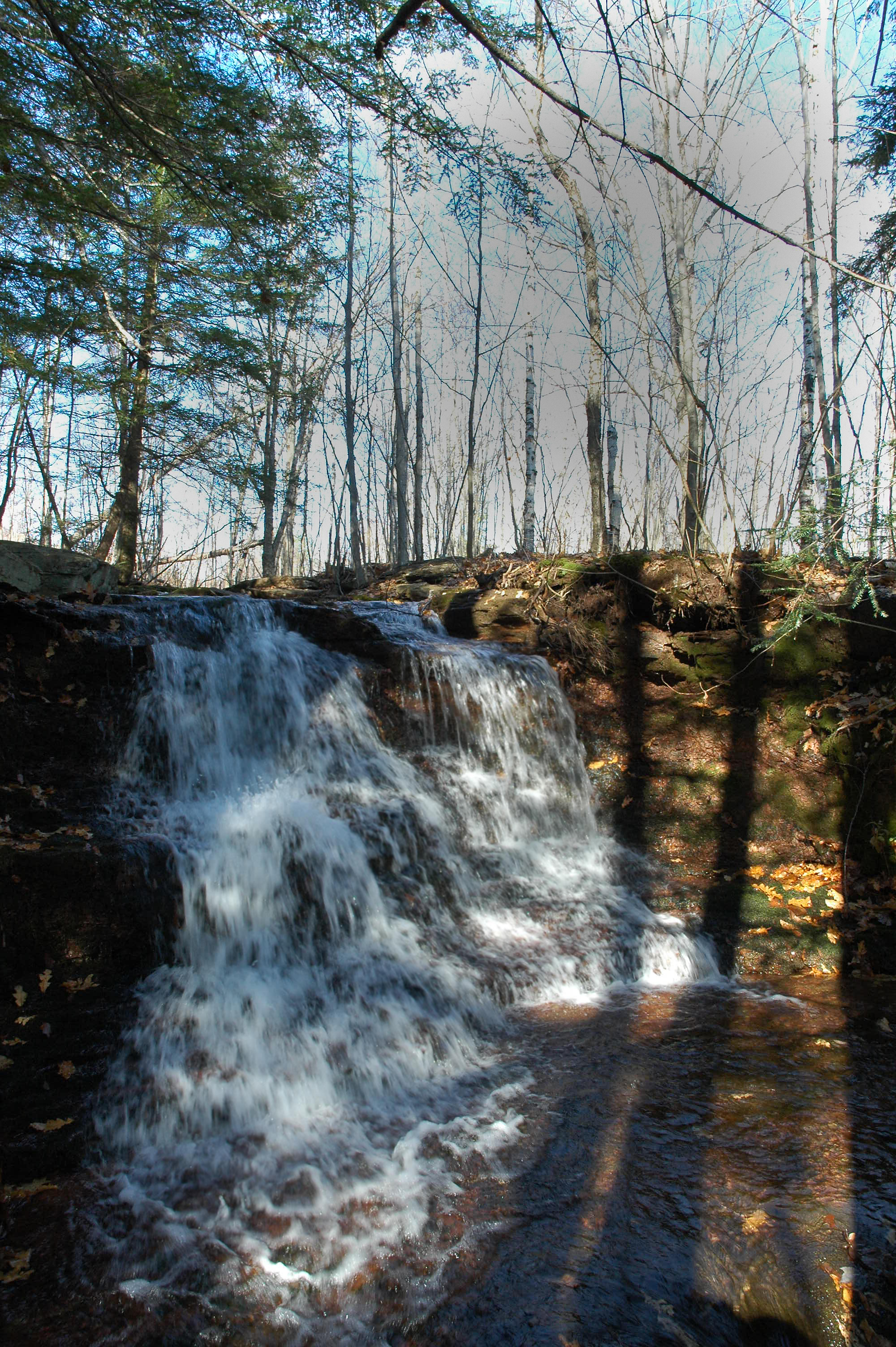 Hudson Hollow waterfall