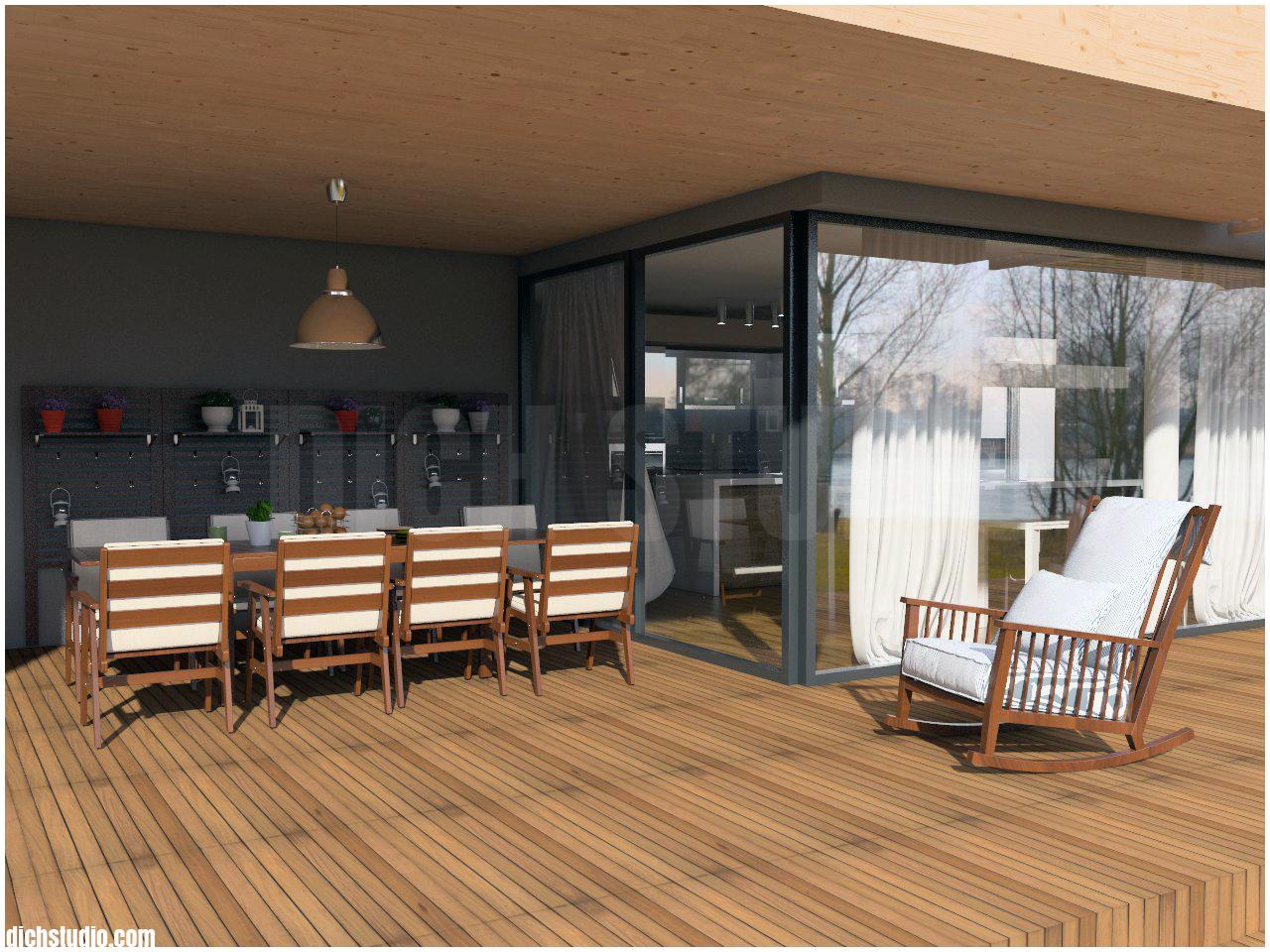 Interior design - veranda, house near Varna
