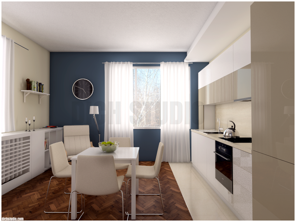 Render dining room and kitchen