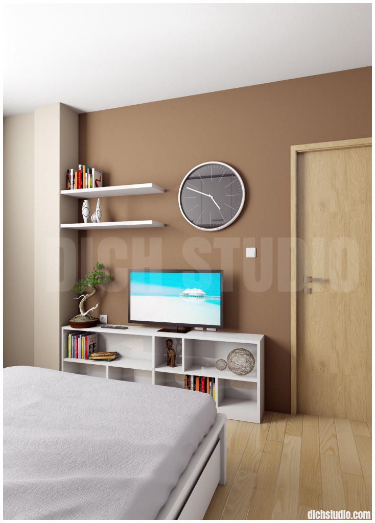 bedroom brown