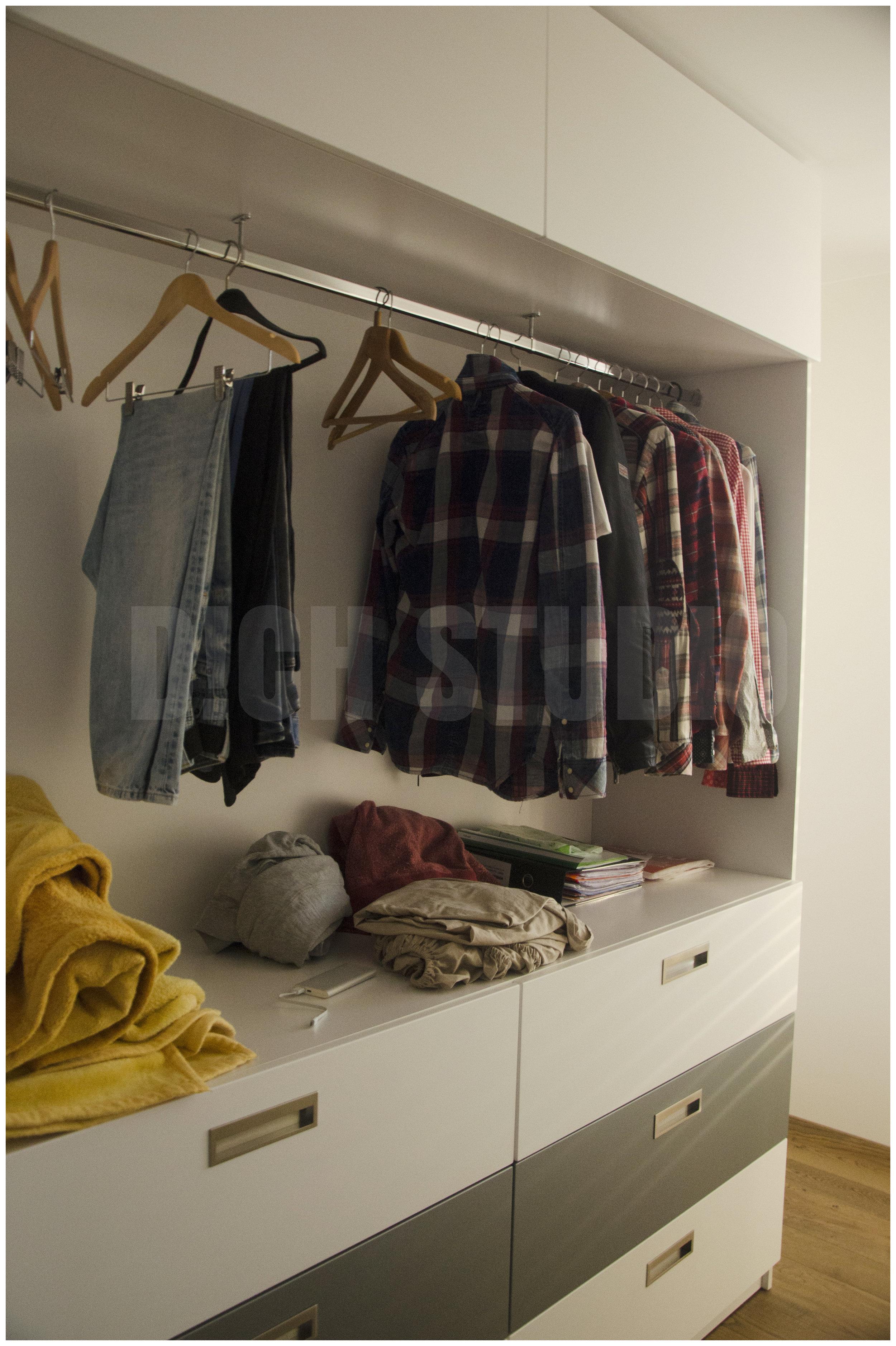 Photo, master bedroom closet, house near Varna
