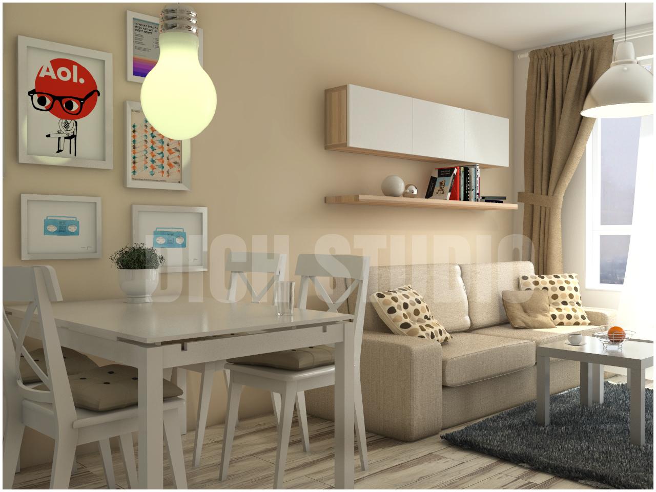 Living room interior design Mladost Sofia