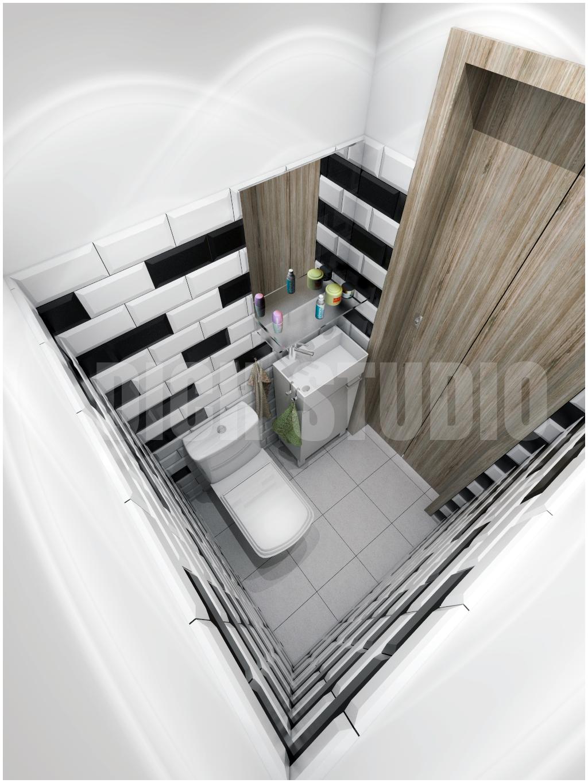 Bathroom white tiles interior design project Mladost Sofia