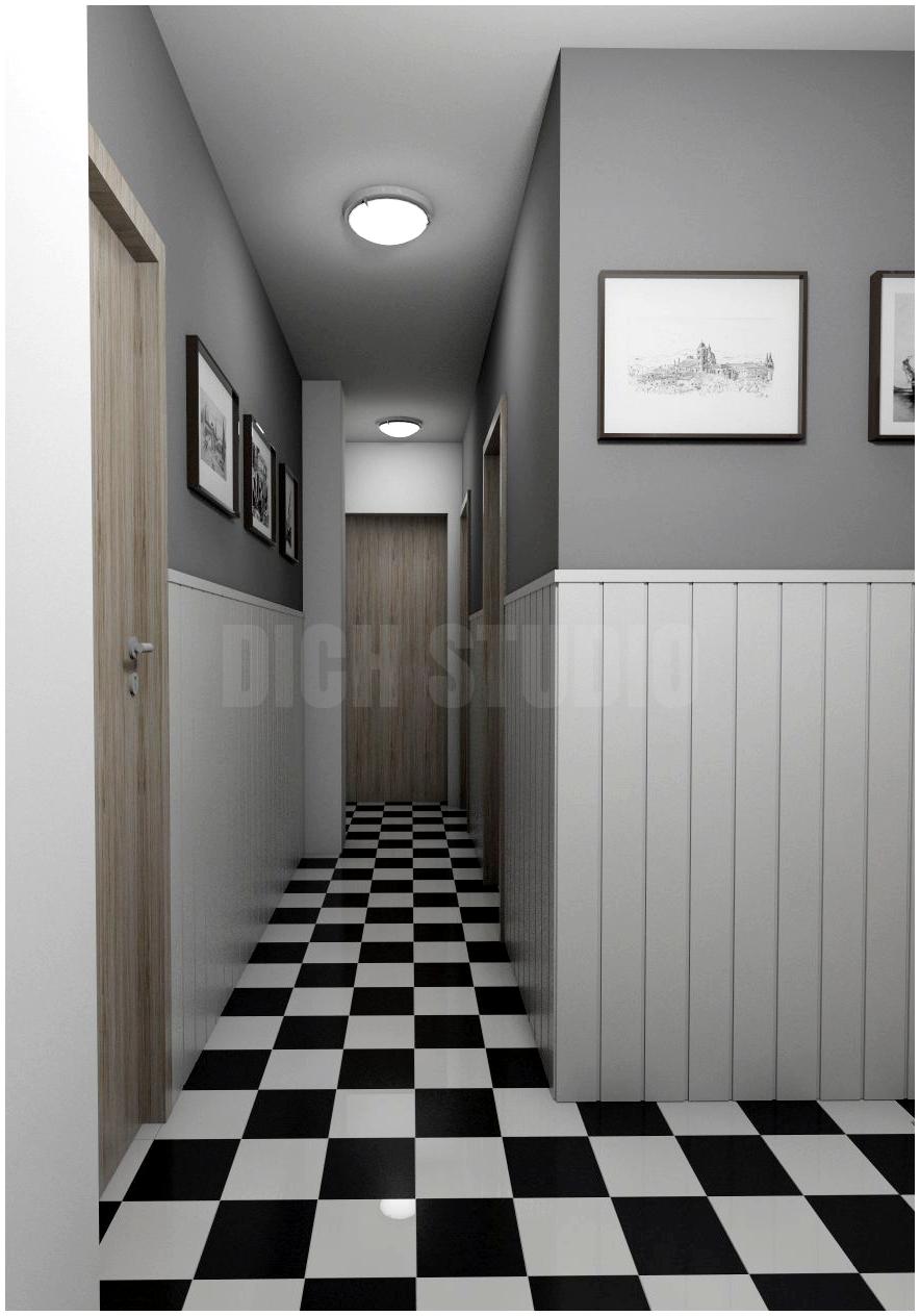 Entrance hall interior design project Mladost Sofia