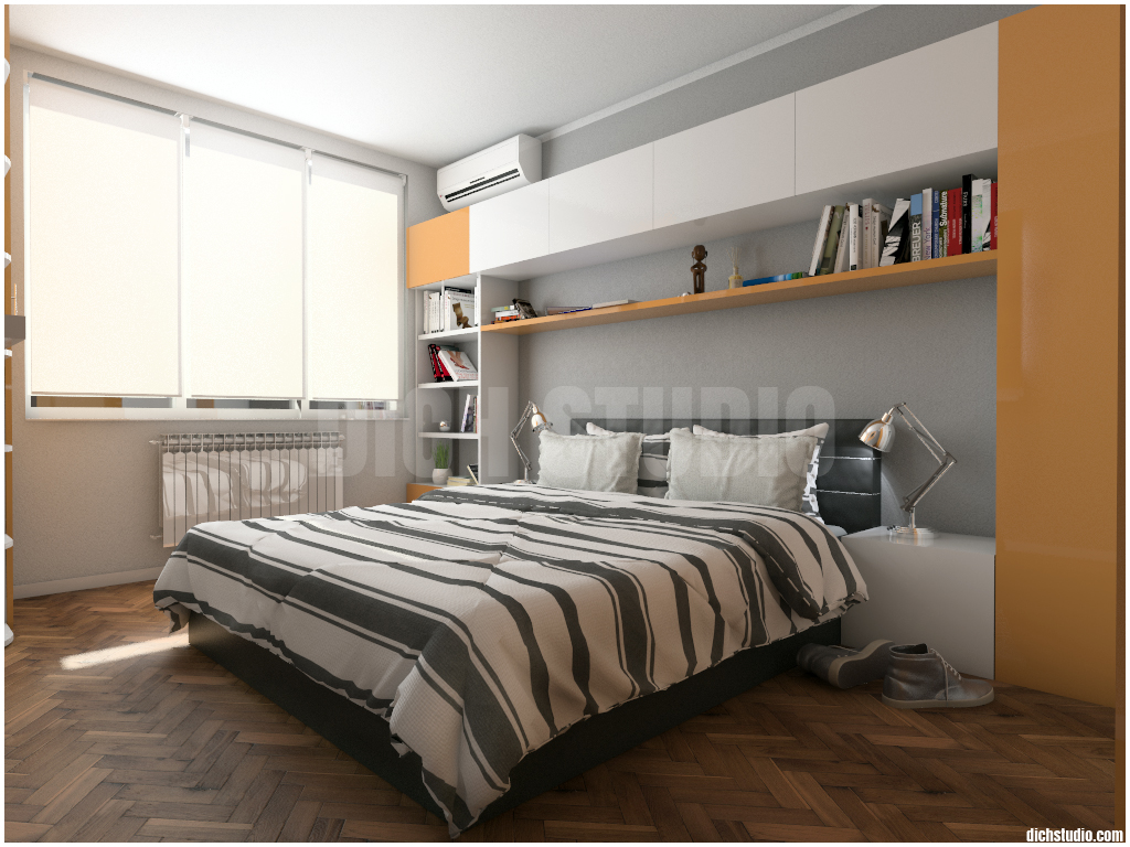 Idea orange bedroom