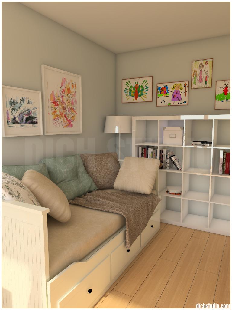 Children room IKEA bed Sofia