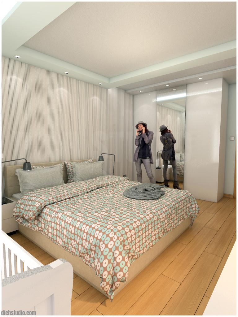 Bedroom design, Ovcha Kupel, Sofia