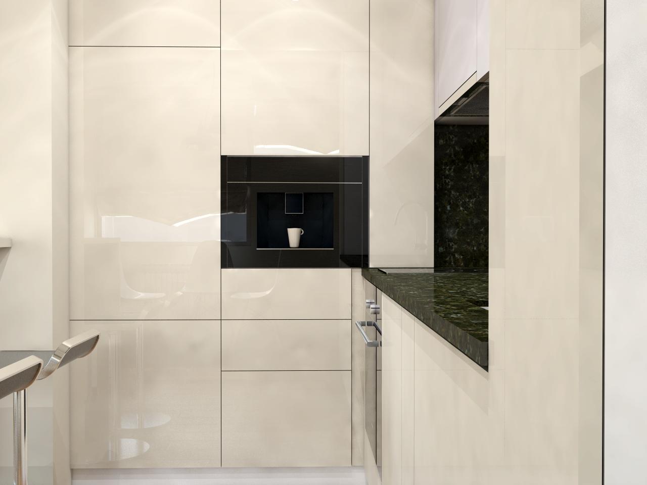 Kitchen rendering - apartment in Lozenets, Sofia