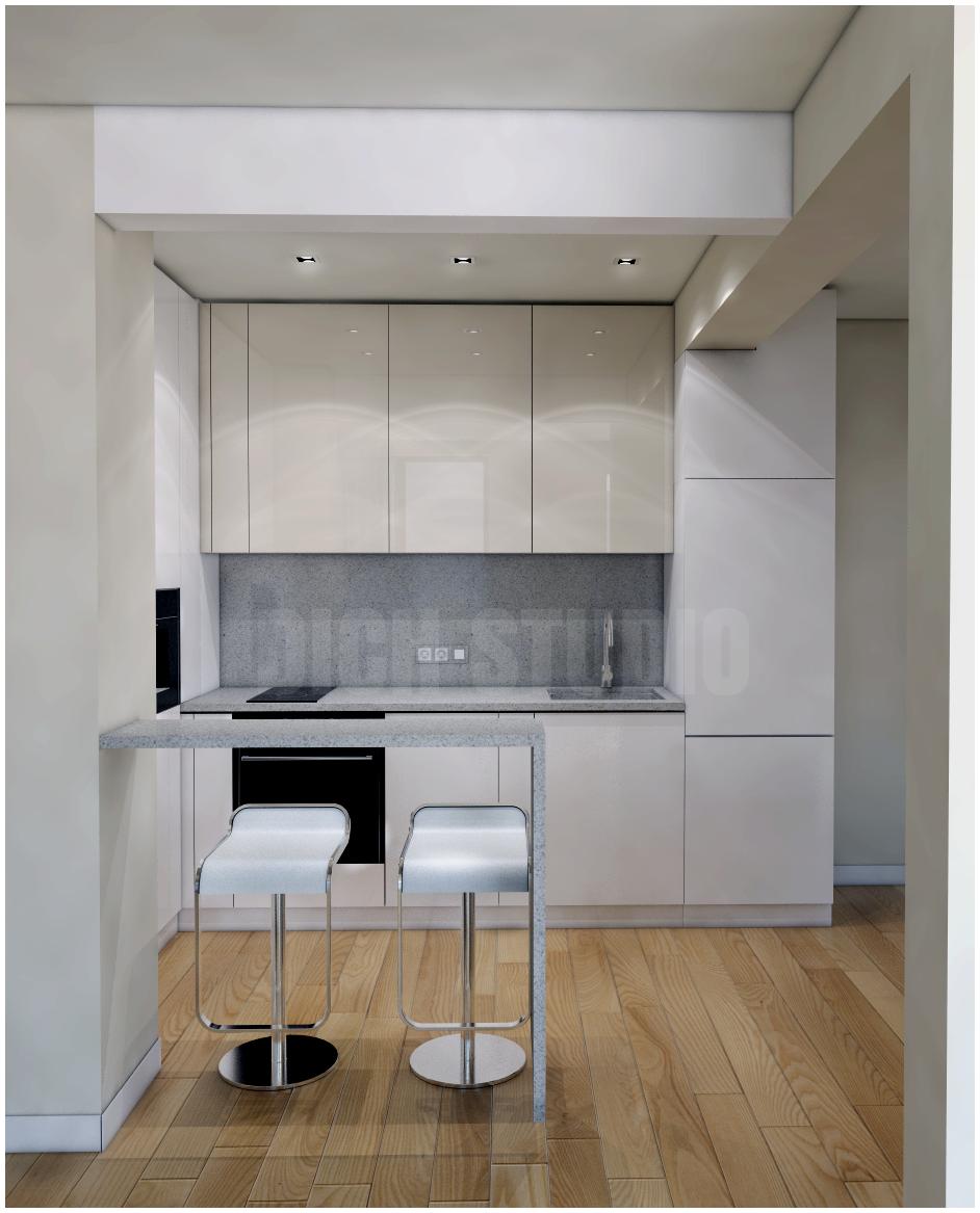 Kitchen white beige