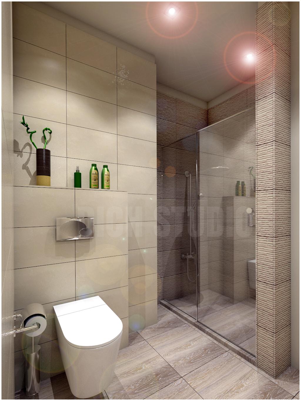 Bathroom beige tiles