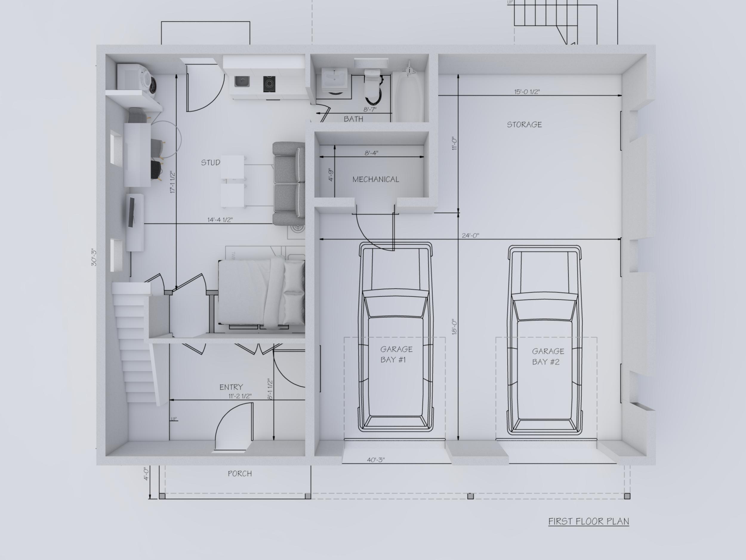 Conceptual architect design 3d