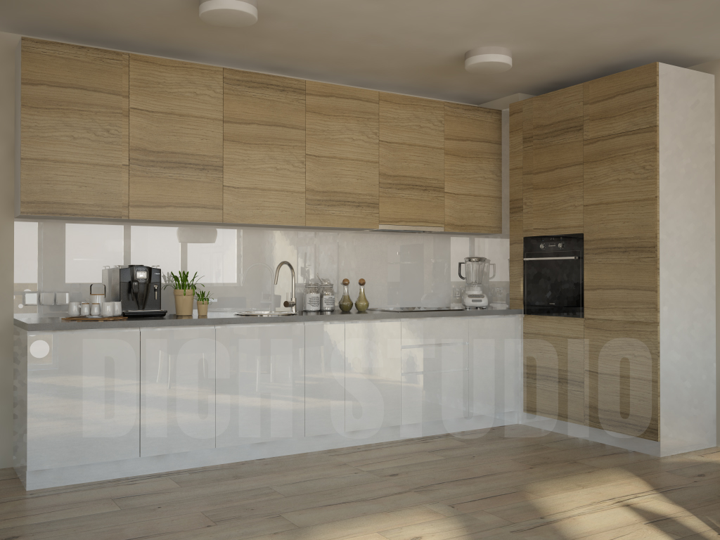 Kitchen white wood