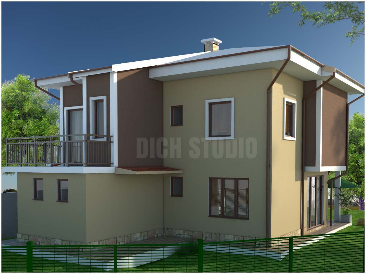 Family house project Sofia, architecture