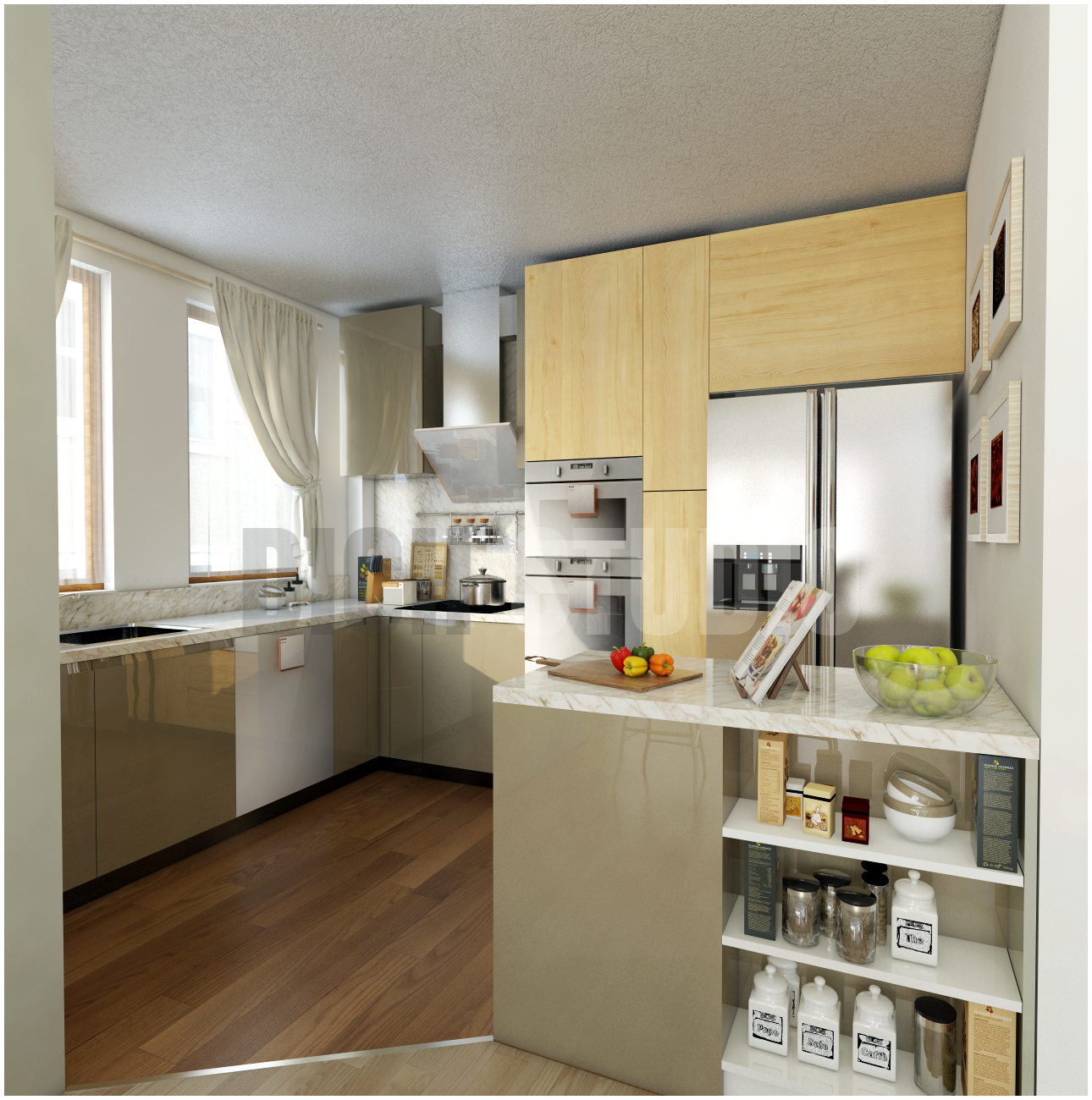 Kitchen yellow design Tarnovo