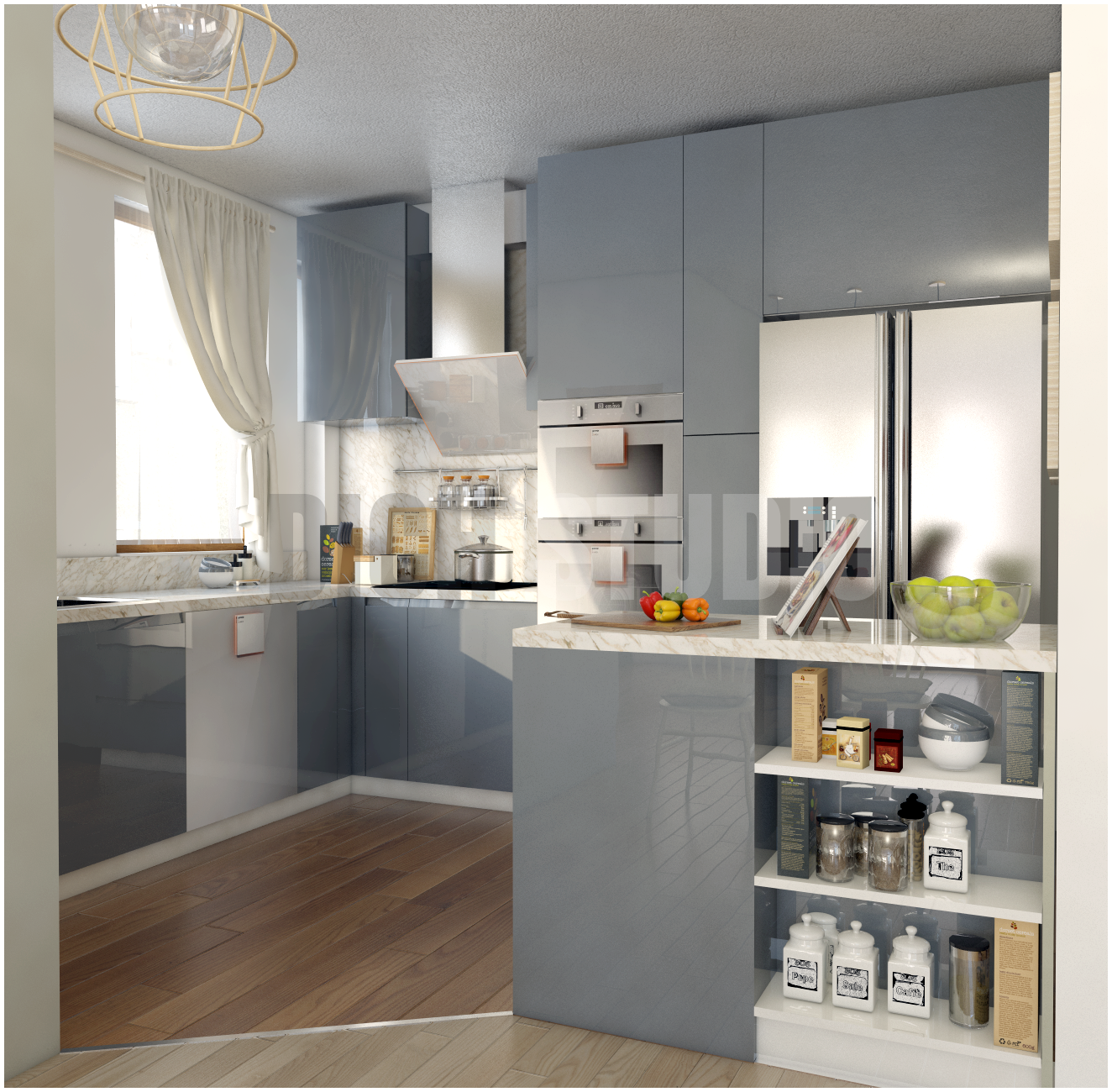 Kitchen grey design Tarnovo