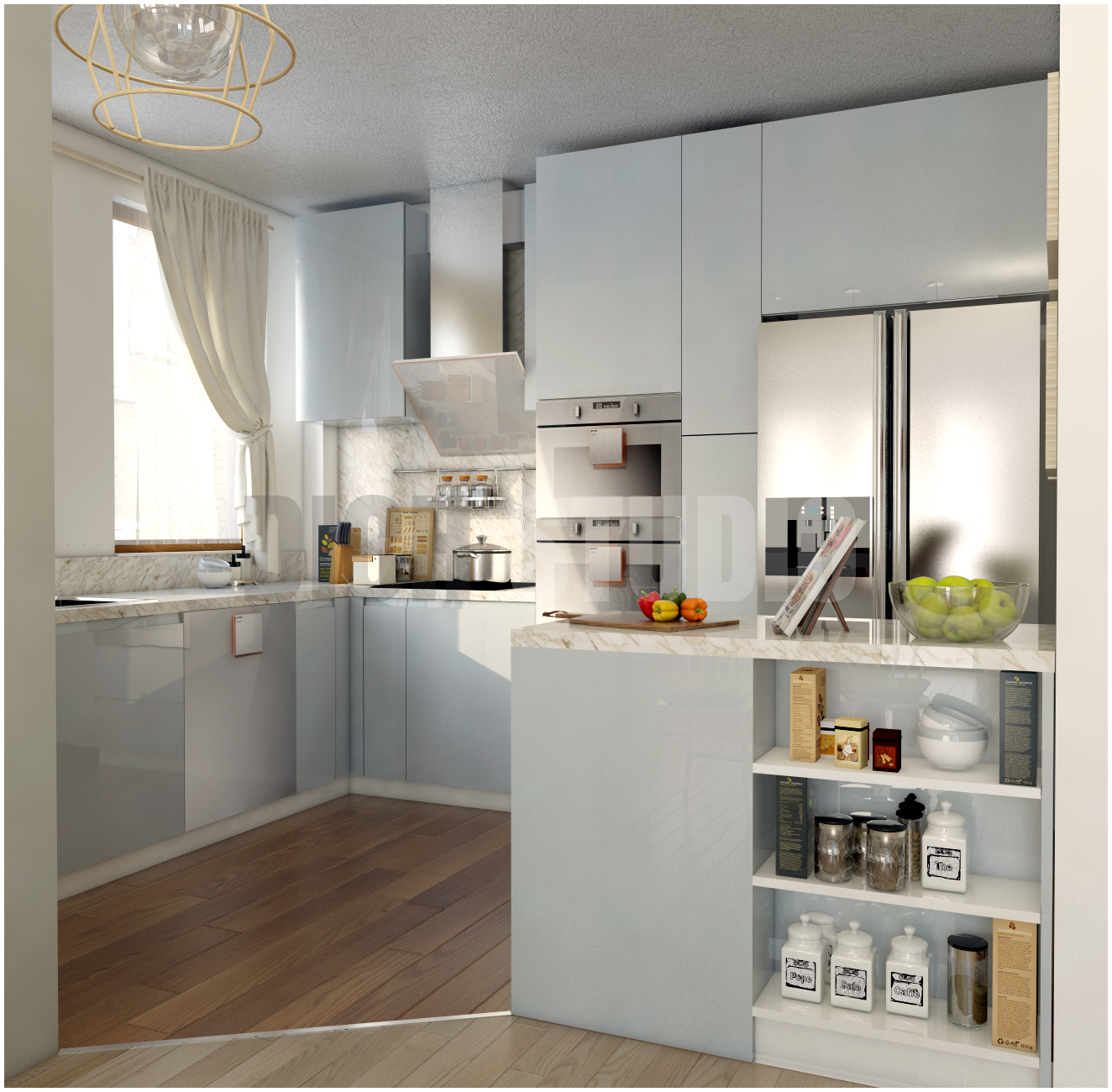 Kitchen in blue design Tarnovo