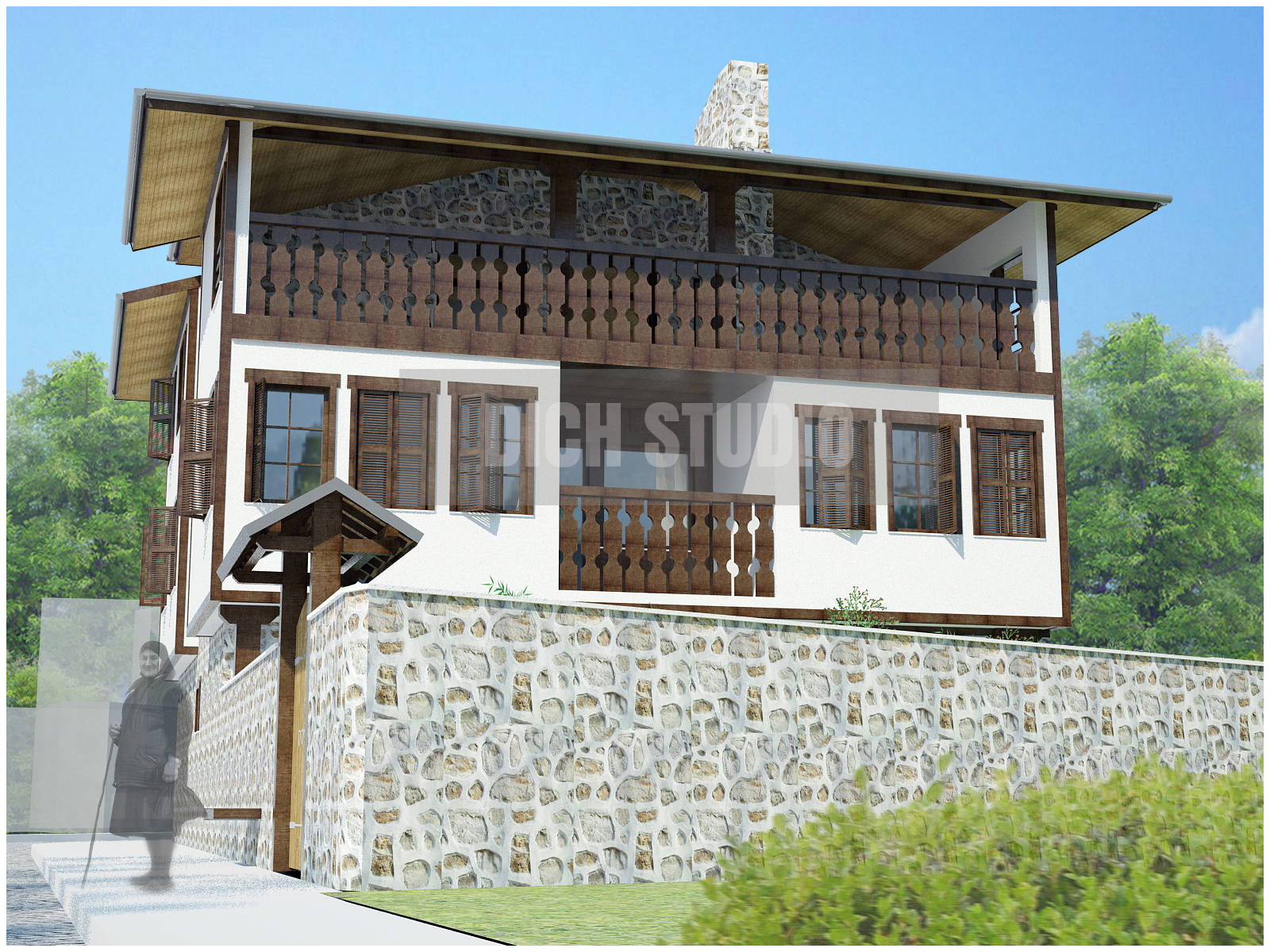 Architectural design guest-house in Bulgaria