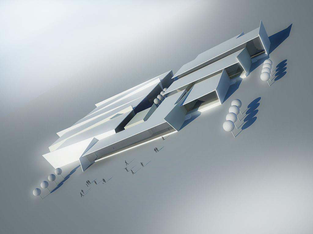 Концептуална 3Д визуализация на промишлено хале