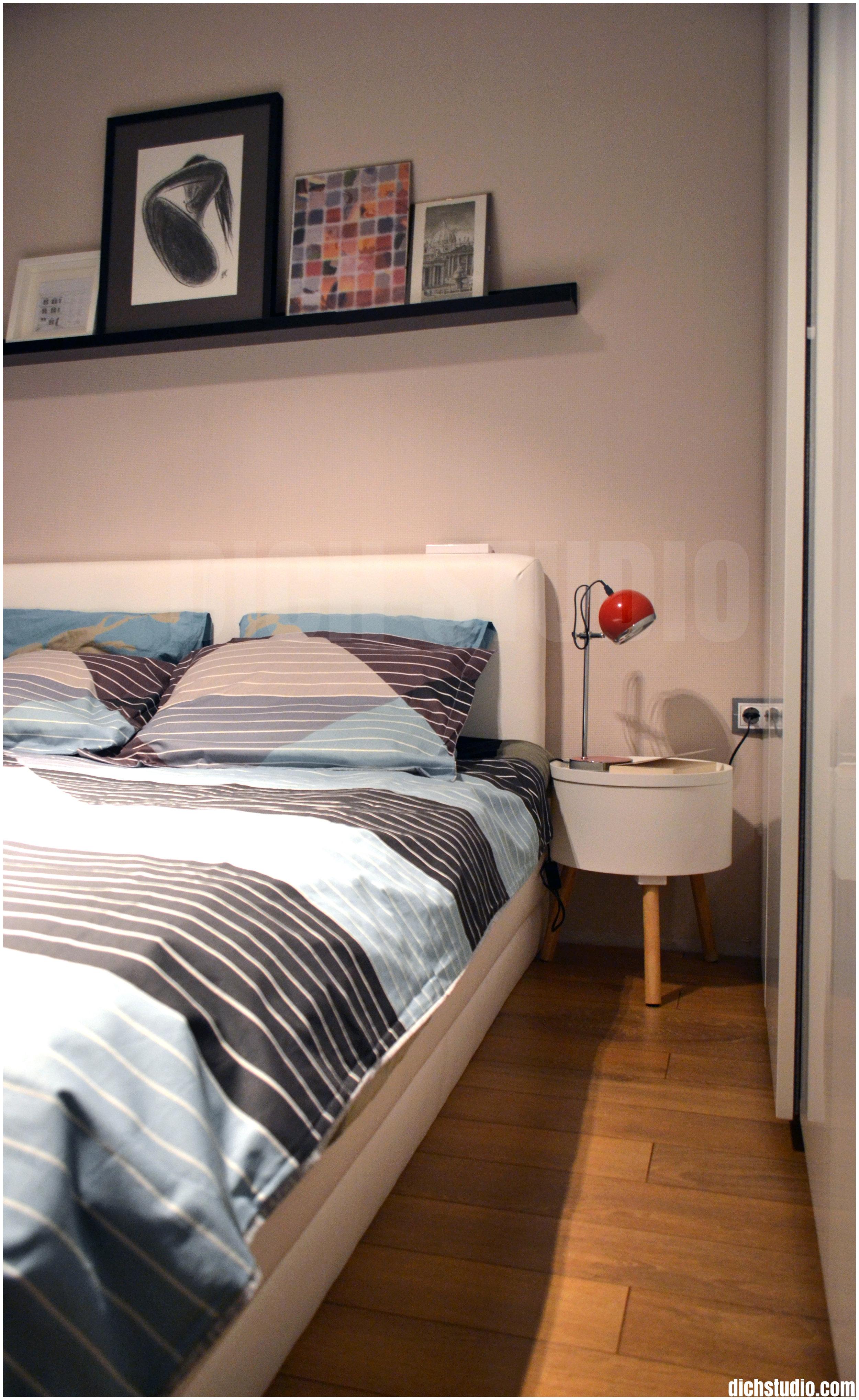 Bedroom detail interior design Sofia