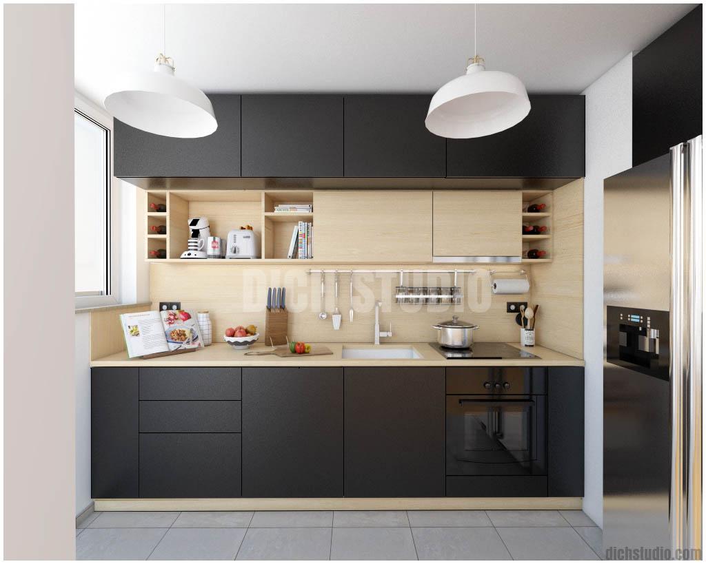 kitchen wood black interior design, Vratsa