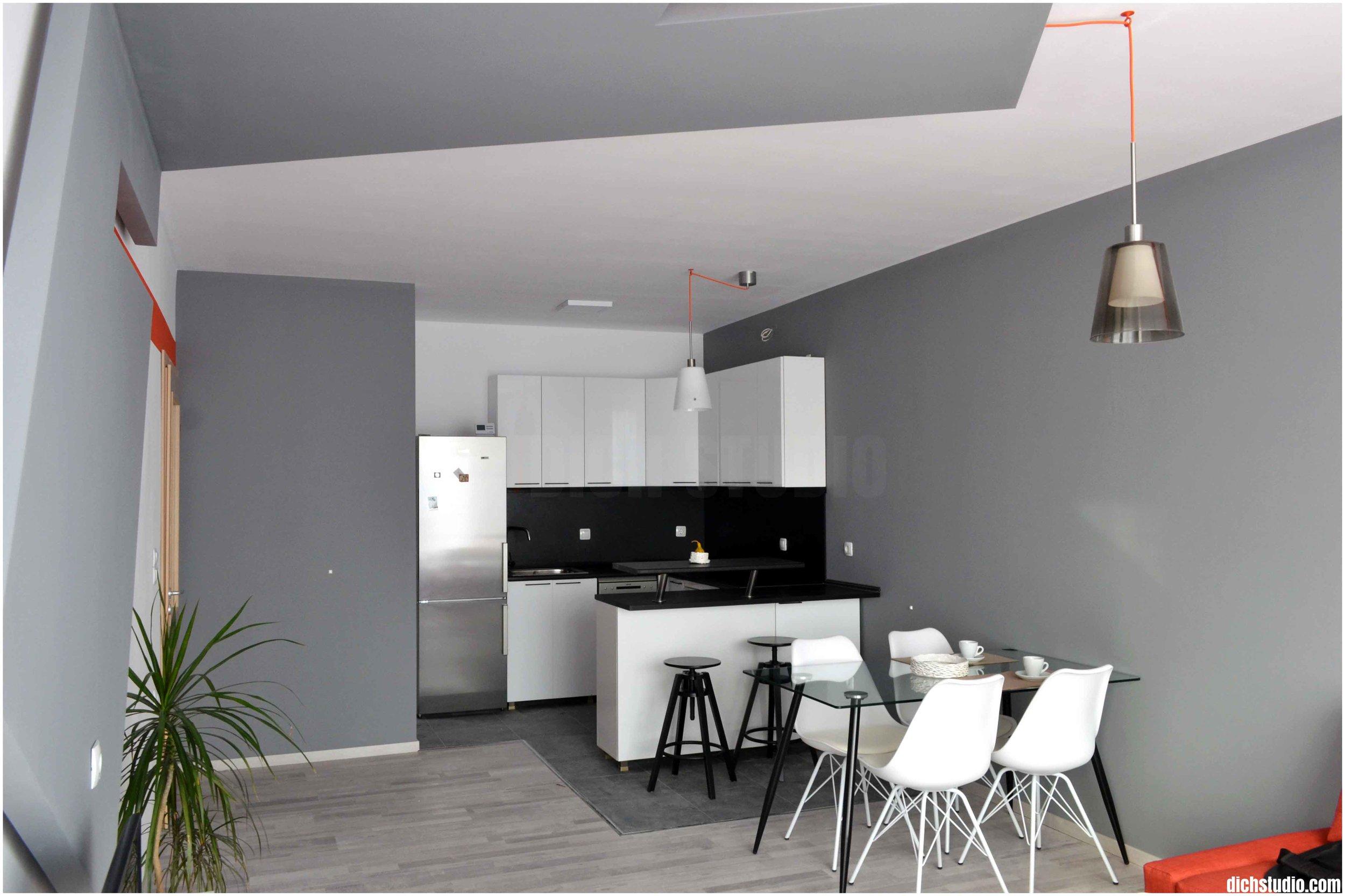 Кухня-трапезария интериорен дизайн изпълнение
