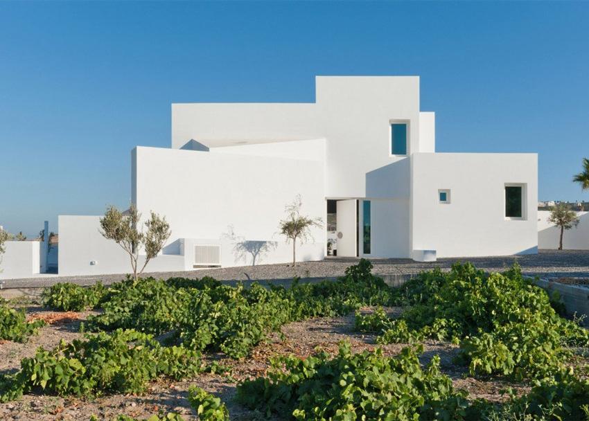 Къща в Санторини;  архитект - Alexandros Kapsimalis; Фото:Julia Klimi