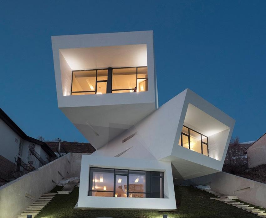 Mosha house, Техеран; архитект - New Wave Architecture; Фото:Parham Taghioff