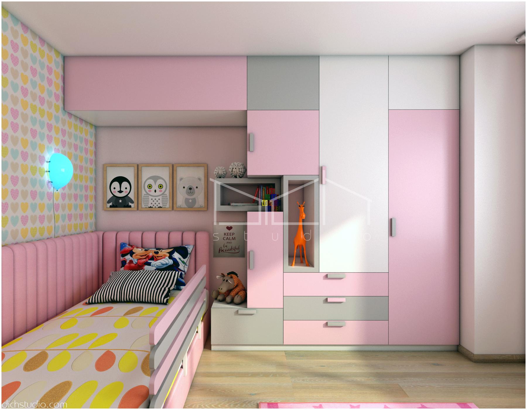 Интериорен дизайн на детска стая и спалня за гости