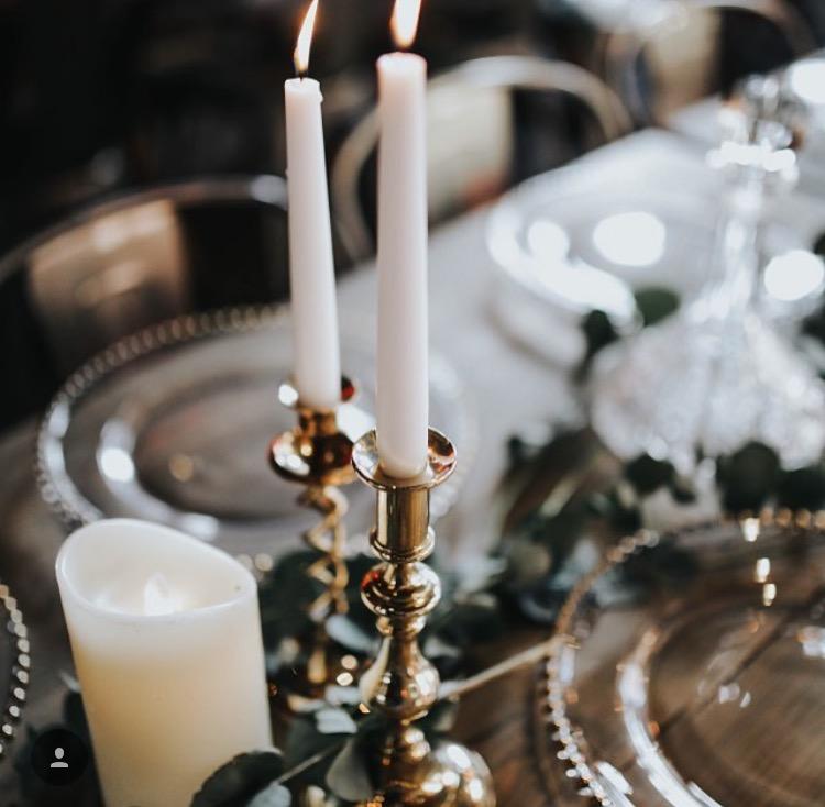 Brass candelsticks