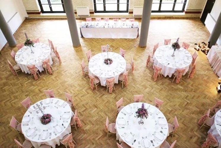 full room pink ruffles