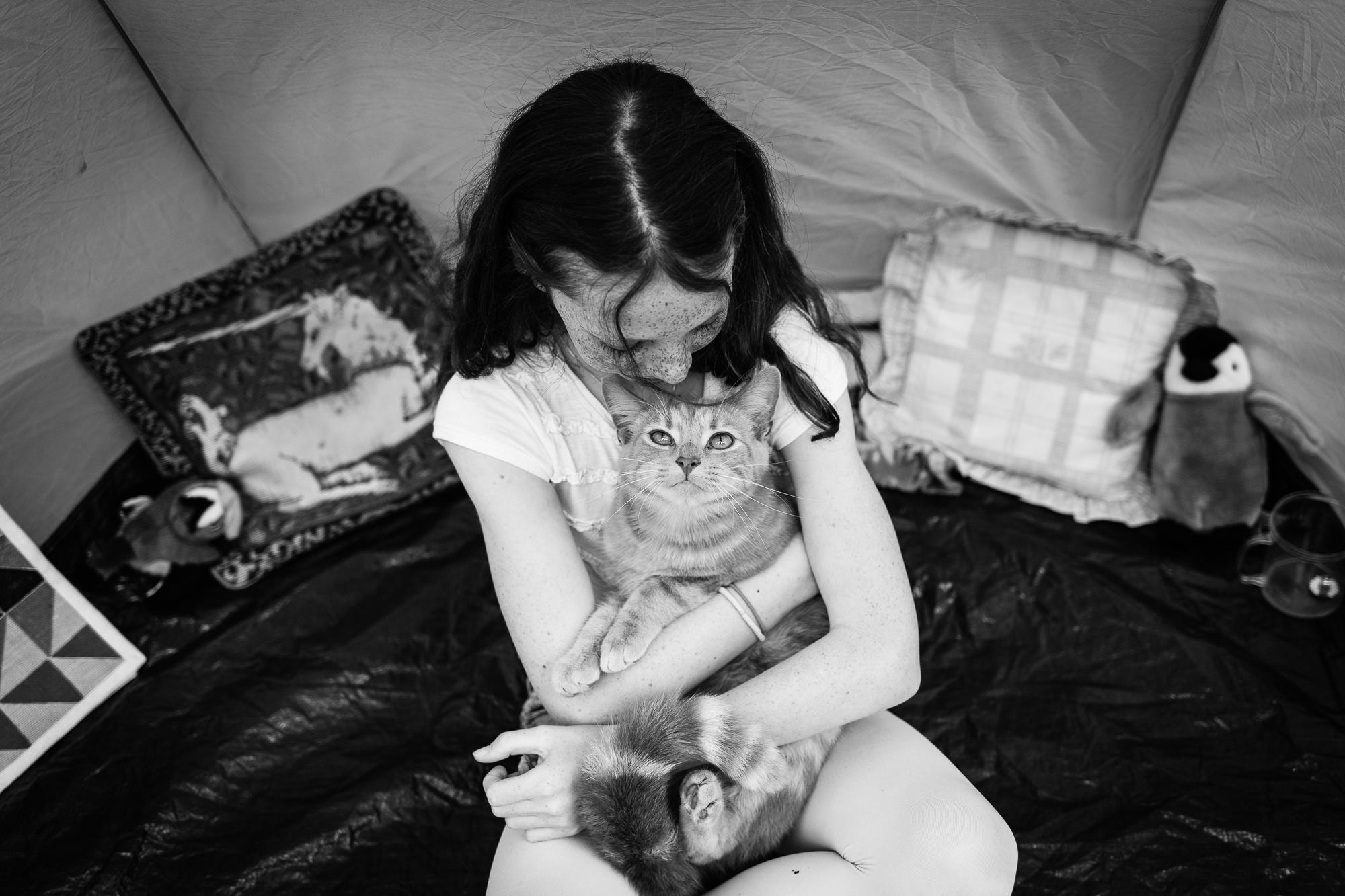 Alice Chapman Photography children and pet cat portrait Cambridge