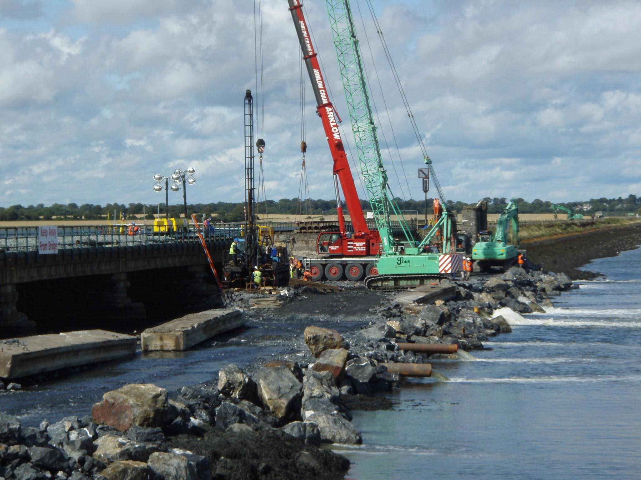 malahide viaduct under repair.JPG