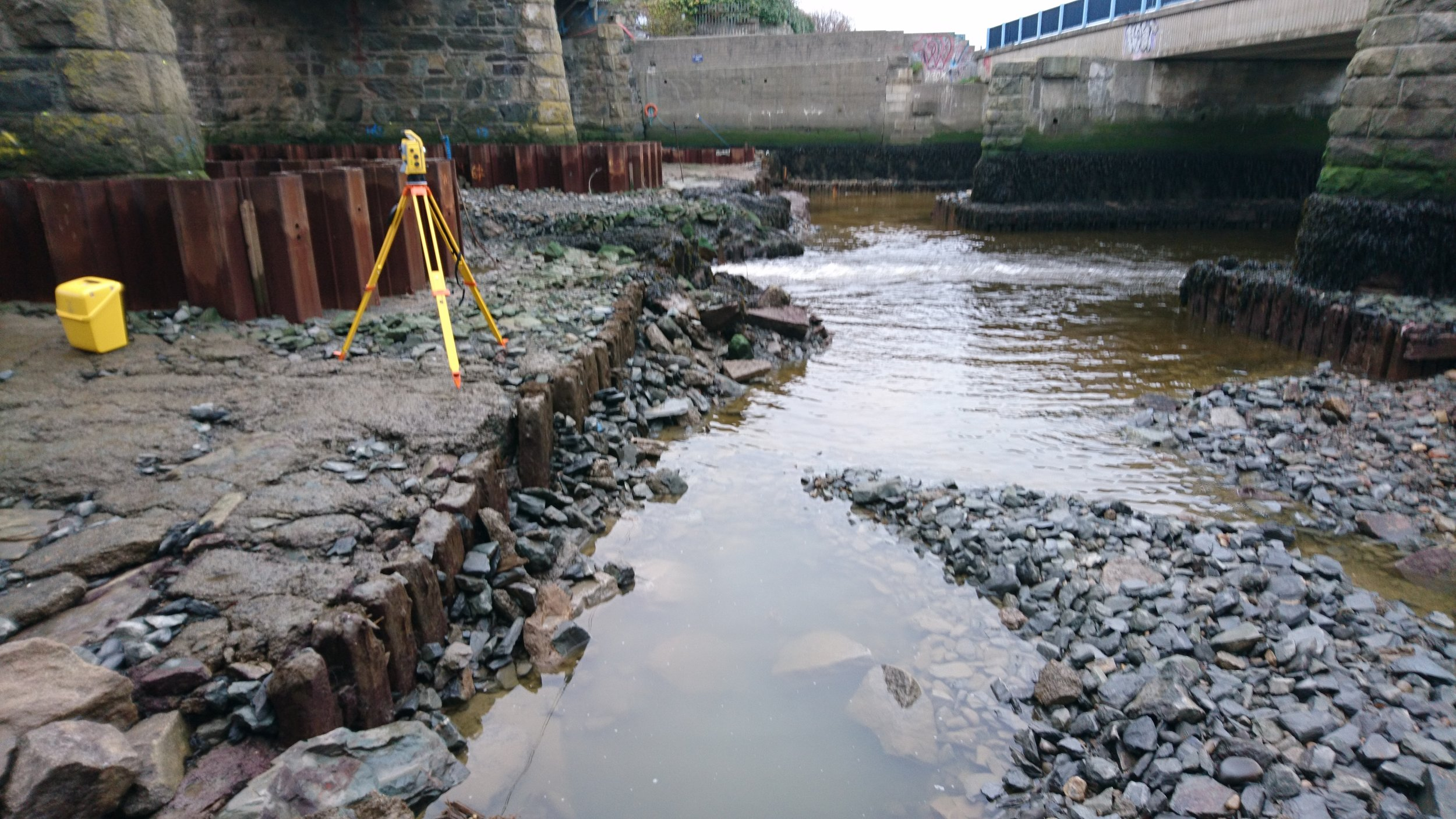 HHS recently undertook a bridge scour survey to determine local scour levels and to facilitate scour prevention measures.