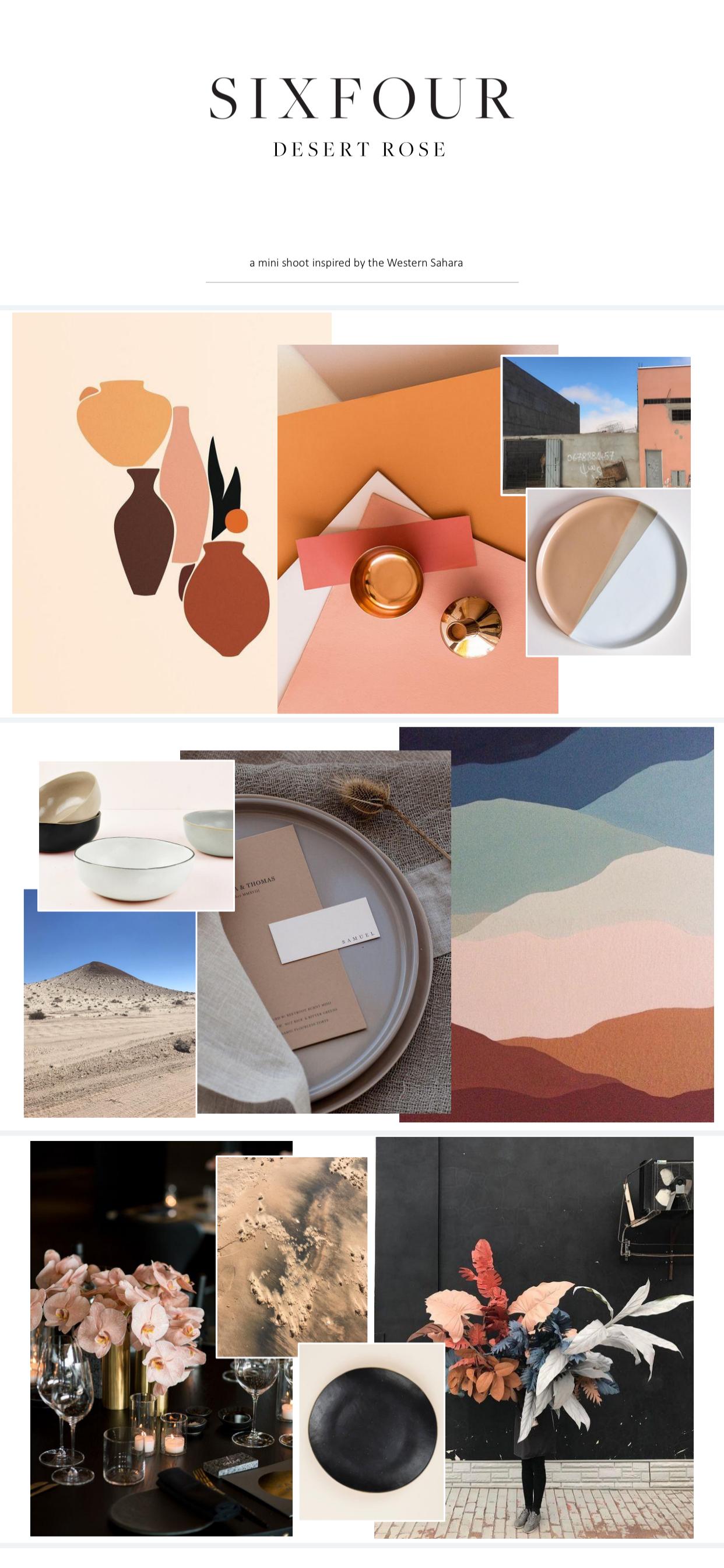 Desert Rose Moodboard by SIXFOUR