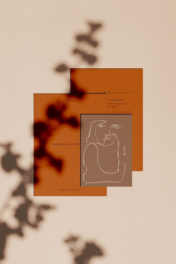 Orange Tone Stationery by Papier & Co