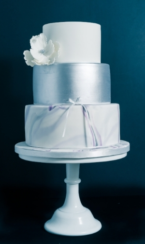 Marble wedding cake Gloucestershire