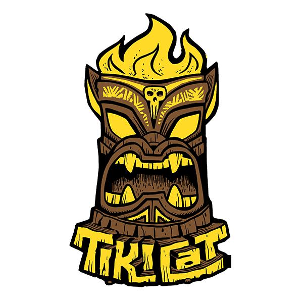 TikiCat Logo Sticker ($2)