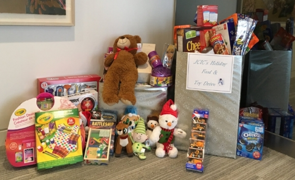 JCIC worked together this holiday season to help bring Food and Toys to families in need. We thank the Toronto Fire Fighters for organizing the Toy Drive and the Toronto Daily Bread Food bank for the distribution of non-perishable food items.