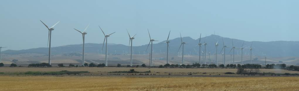 Wind turbines in Cádiz Province, Summer 2017