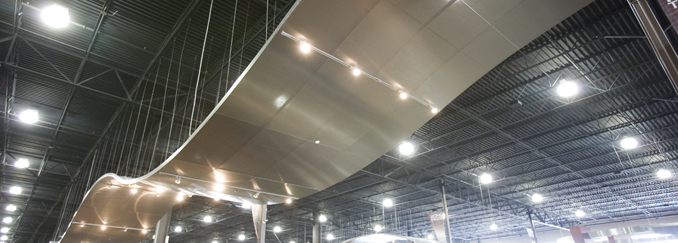 AC110C Lay-In Curved Metal Ceiling