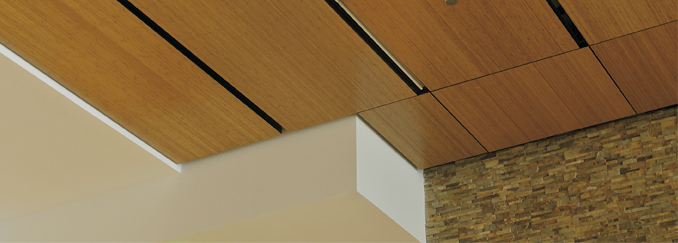 AC140F SureWood Lay-In Flat Real Wood Ceiling