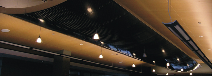 AC430F EnviroWood Torsion Spring Mounted Ceiling System Faux Wood