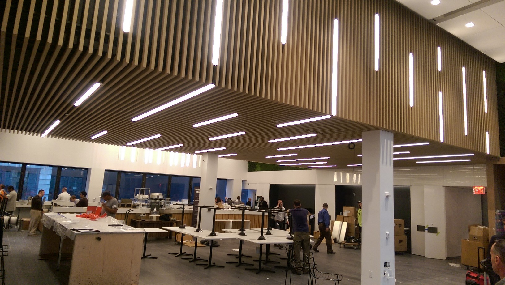 Accent metal ceilings and walls