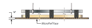 Suspension Series 5 - Series 5 is designed for large format panels that suspend from a cold rolled steel channel for HD T-Grid. Panels can be easily installed or locked into place.