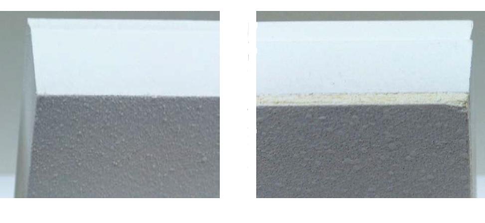 EDGE DETAIL: Sky Acoustics (Left) vs the Competition (Right)