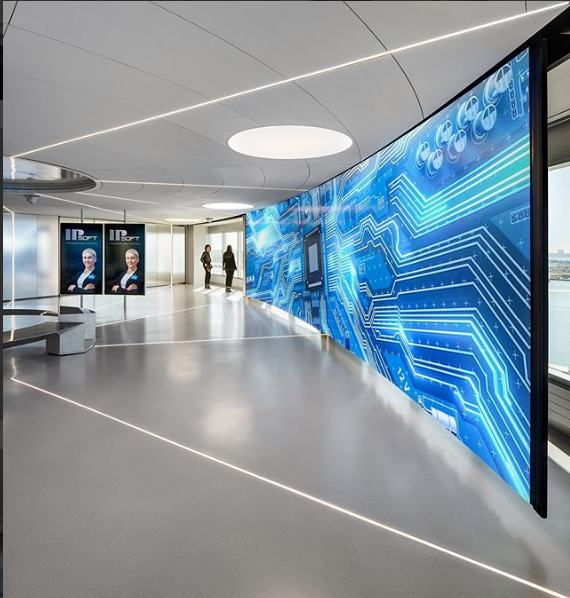 System: Radial AURA Panels Project: IPSOFT, NYC Architect: Skidmore, Owings, and Merrill (SOM)