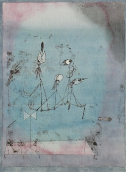 Paul Klee,  Twittering Machine , 1922. We can't necessarily sit down  to make a masterpiece . But we can paint, and maybe something great will emerge.