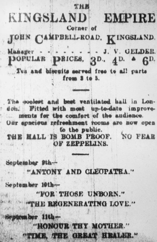 kingsland empire advert 1915.png