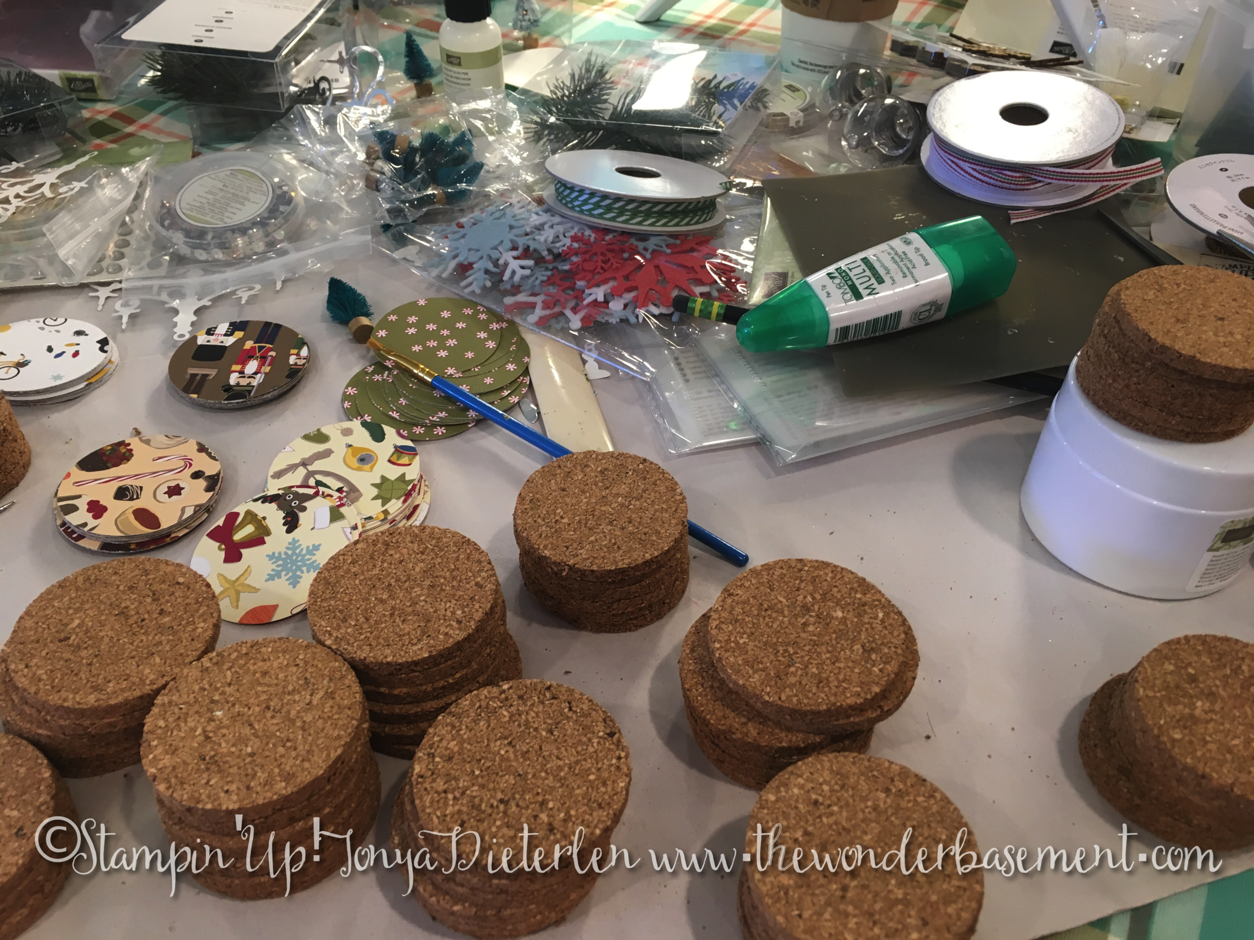 Corks and glue and trees